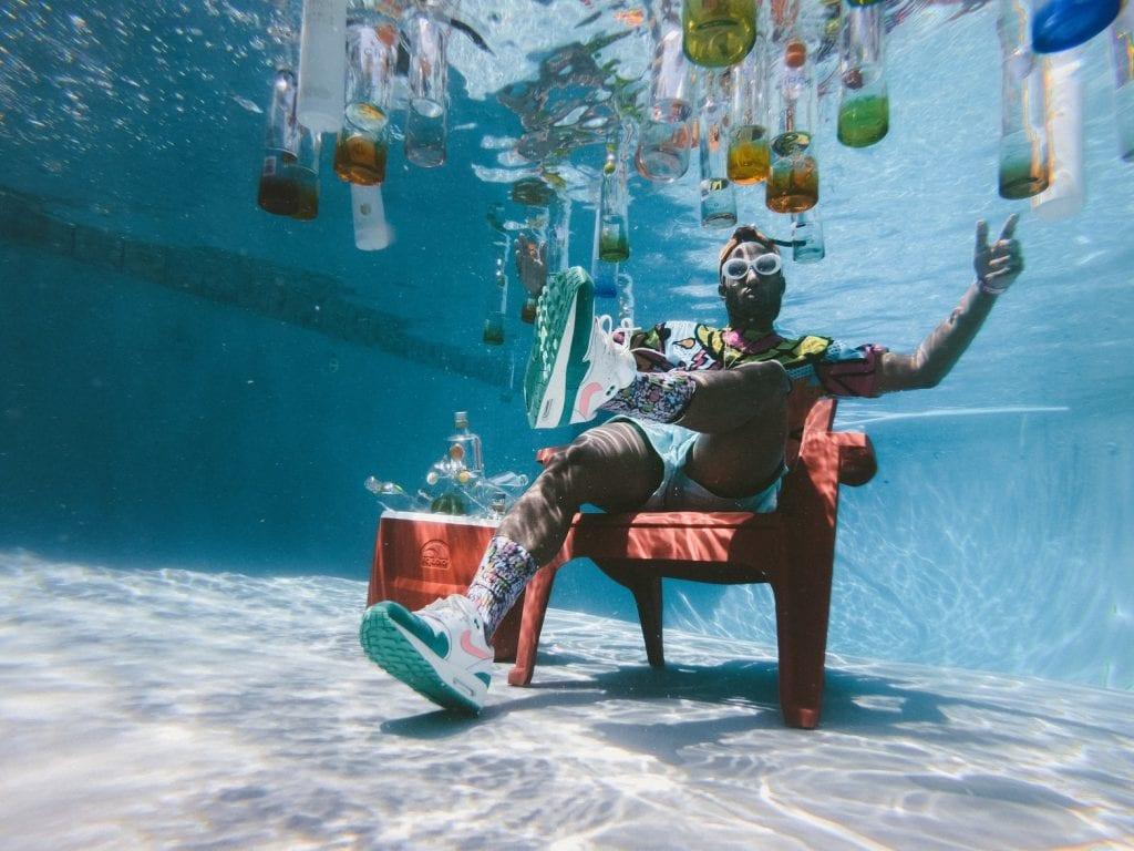 Party underwater
